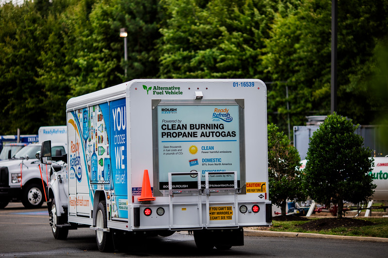 ROUSH CleanTech  fuel systems enable Nestlé Water delivery trucks to run on clean, domestic, and economical propane autogas.