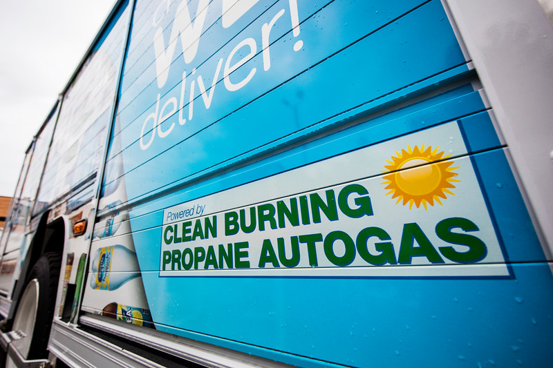 The graphics clearly celebrate the usage of this alternative fuel.