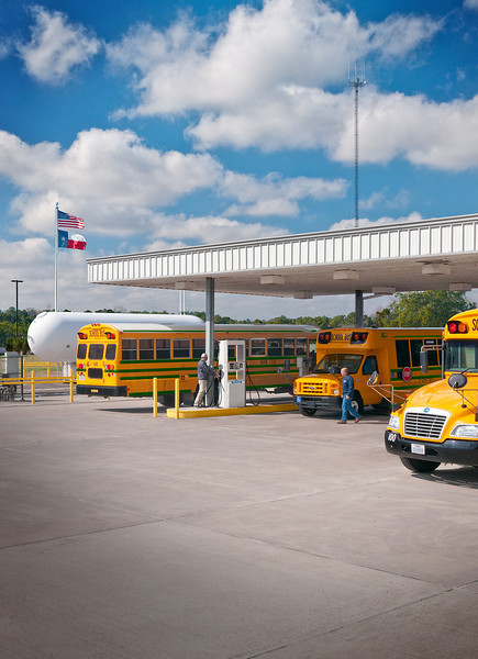 Alvin Independent School District (ISD) 	 <br /> Alvin, Texas<br /> Vehicles:  (68) 2010 – 2013 Blue Bird Propane-Powered Type C school buses