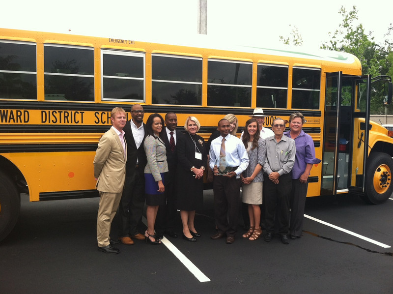 Broward County Public Schools, the nation's sixth largest school district, purchased 98 alternative fuel school buses to lower its operating costs while improving the environment. Broward County representatives accept a clean transportation award from Florida Gold Coast Clean Cities Coalition for their autogas buses:<br /> Innovation in School Bus Transportation<br /> Outstanding Propane Autogas Leadership<br /> 20th Anniversary Celebration<br /> May 2014