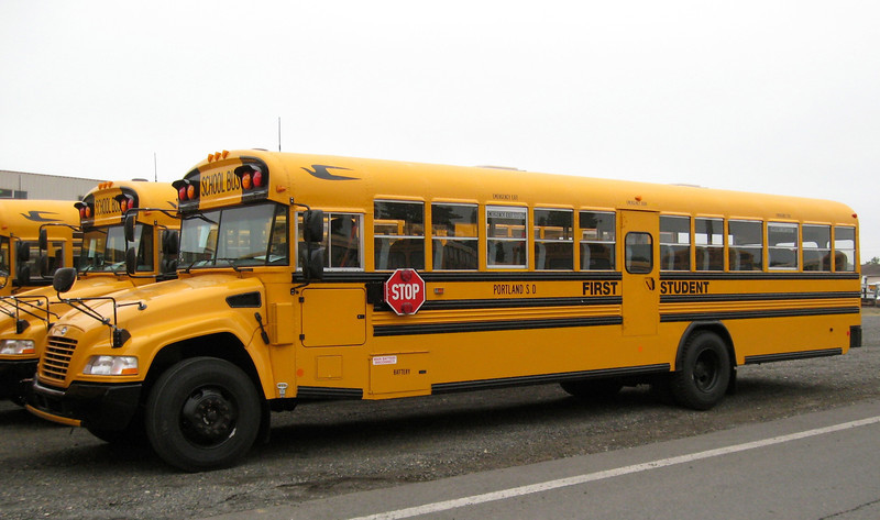 First Student's propane autogas school buses for use in Portland Public Schools.