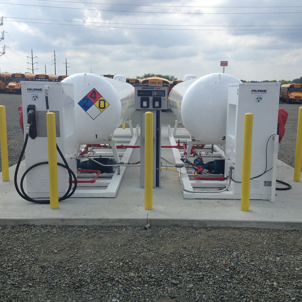 Hempfield and East Penn School District propane autogas fueling stations.