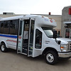 The shuttle body, designed by El Dorado National, features wheelchair lifts and ramps that make it possible for those with disabilities to be mobile.