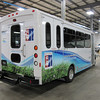 Examples of propane autogas fueled shuttles by National Bus Sales & Leasing.