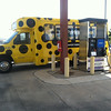 The Parking Spot's shuttle fueled by propane autogas fills up.