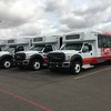 MTS purchased 31 minibuses and 46 paratransit buses fueled by propane. All propane-fueled buses will be stationed at the agency's Copley Park Division in Kearny Mesa where MTS operates 178 paratransit vehicles and 37 minibuses. In addition to paratransit services, the division covers 30 bus routes and serves about 1.3 million passengers annually. With the switch to propane, 35 percent of the Copley Park fleet is now operating on clean, alternative fuel.<br /> <br /> The minibuses are built on the Ford F-550 chassis and the paratransit buses are built on the Ford E-450 chassis. Each model features a Ford 6.8L V10 engine with a ROUSH CleanTech propane autogas fuel system.