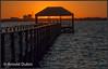 Sunset around the Riverside Park