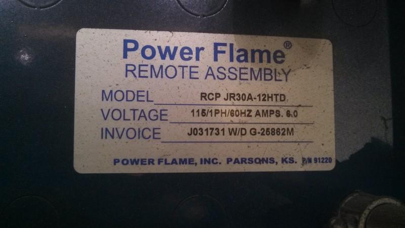 20150402 110849 Power Flame Burner ID1
