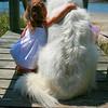 Little Girl and Big Dog