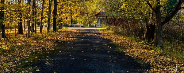 Everett Road Covered Bridge, Cuyahoga Valley National Park, October 2015.