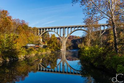 The Cuyahoga Valley Scenic Railroad, Brecksville, Ohio, October 2015.