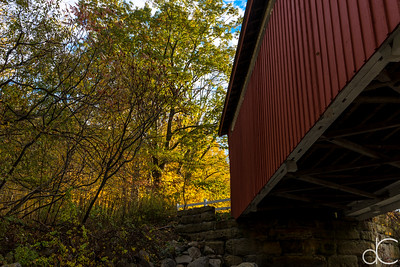 Everett Road Covered Bridge, Cuyahoga Valley National Park, October 2015.