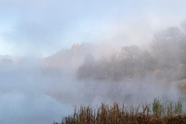 Autumn Fog at Indigo Lake