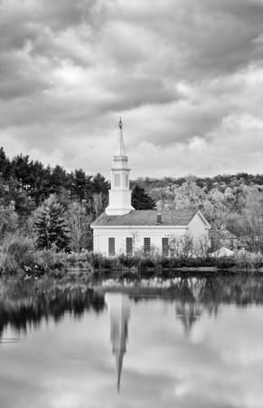 Hale Farm church reflection