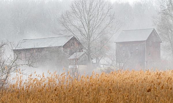 Botzum Barns in Fog