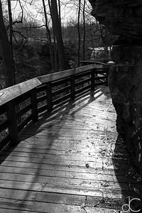 Boardwalk to Brandywine Falls, Cuyahoga Valley National Park, April 2016.