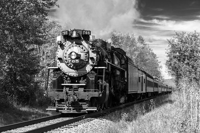 The NKP-765, Steam in the Valley, Cuyahoga Valley National Park, 2015 - Number 01, Monochrome Study.