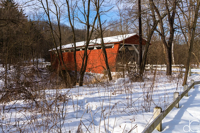 Everett Road Covered Bridge, Cuyahoga Valley National Park, February 2015.