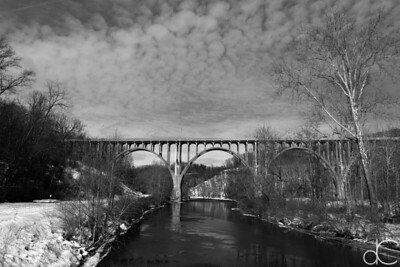 State Route 82 Bridge Over the Cuyahoga Valley, February 2015.