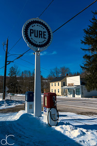 Be Sure With Pure, M.D. Garage, Cuyahoga Valley National Park, February 2015.