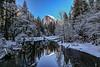 Yosemite Half Dome Winter Reflection Wide