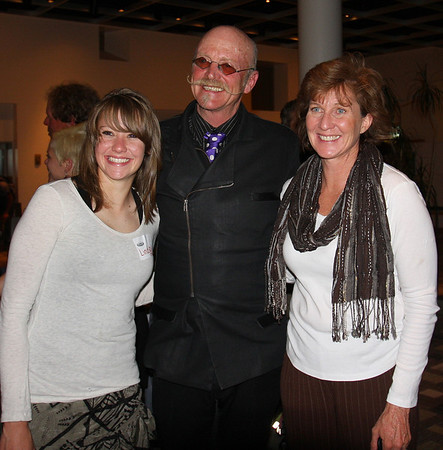 Lindsay Dye, Student Athlete Speaker, Gary Fisher, and Lory Dye, mother of Lindsay.  Photo Carrie Dittmer.