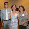 Jacobo Jimenez, Boulder High student athlete speaker, Kate Rau, Executive Director Colorado League, Jacobo's mom.