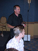 Coach Ben Boyer, Boulder HIgh engages guests with stories. Photo Tammy Welshon.