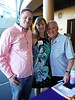Ben Gager, race and silent auction crew; Shelly Nixon, Board Treasurer and Cyclefest Committee Chair; Herschel Goldberg, evening production schedule master. Photo Tammy Welshon.