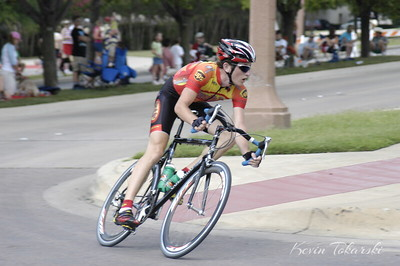 Texas State Skill Based Criterium Championships on Memorial Day. Joseph finished third in the Cat 3 race, finishing between two off the front and fourth behind him, all well in front of the rest of the field. He rode solo for about 5 laps prior to the finish.