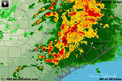 Its a good thing they canceled the ride today, I wouldn't want to be riding in that mess. The ride is on for Sunday from La Grange to Austin, and we are working our Team Pate logistics out for seriously modified travel needs.