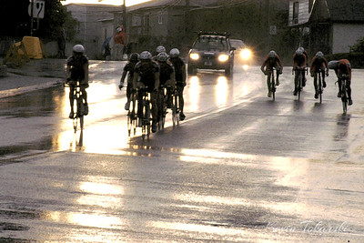 This photo from the 2007 Tour de l'Abitibi TTT was edited to look like a painting.