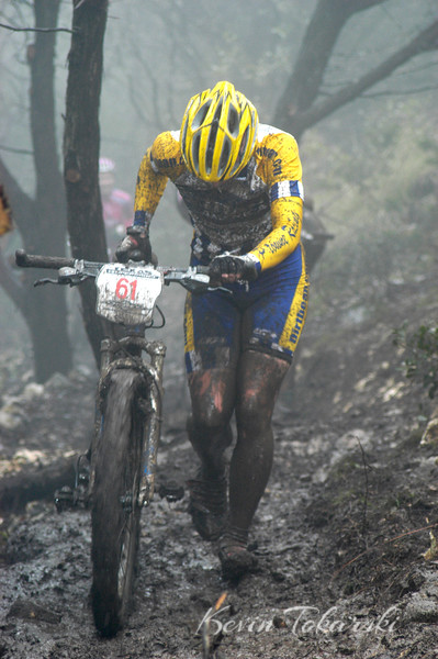 """KJT_2005-3-06_1591 """"A bad day at the office for a Pro Bicycle Racer""""<br /> <br /> TMBRA NORBA National """"Texas Supergring"""" at Tapatio Springs, March 6, 2005 - XC, Pro Women & Pro Men"""