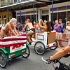 Decatur Street, New Orleans, LA.  Naked Bicycle Parade