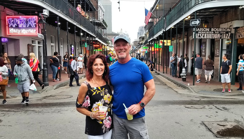 Barry and Tammy on Bourbon Street