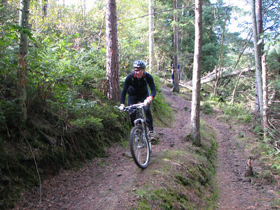 Ray on the downhill section