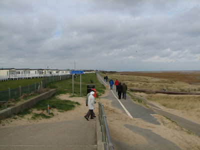 sea front cycle and foot path down most of cleethorpes front