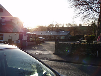 nice start to the day outside the woodbine cafe and b & b