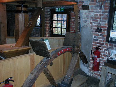 part of the old water wheel in the yha