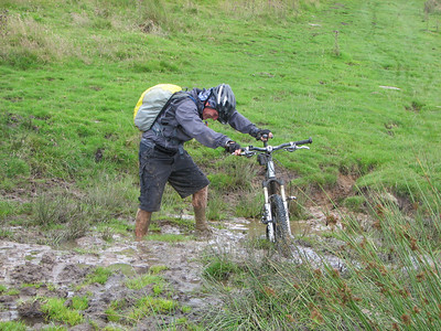 Guess who came over the hill last and could not see what had happened to ray, rotten lot them mountain bikers , give it some tony you will get through it said ray geordie and chiefy