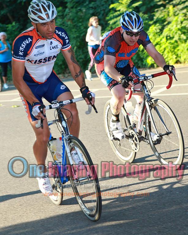 More riders on the climb.  Lap 5.<br />  Al Toefield Memorial Road Race 7/16/11 > Cat 4