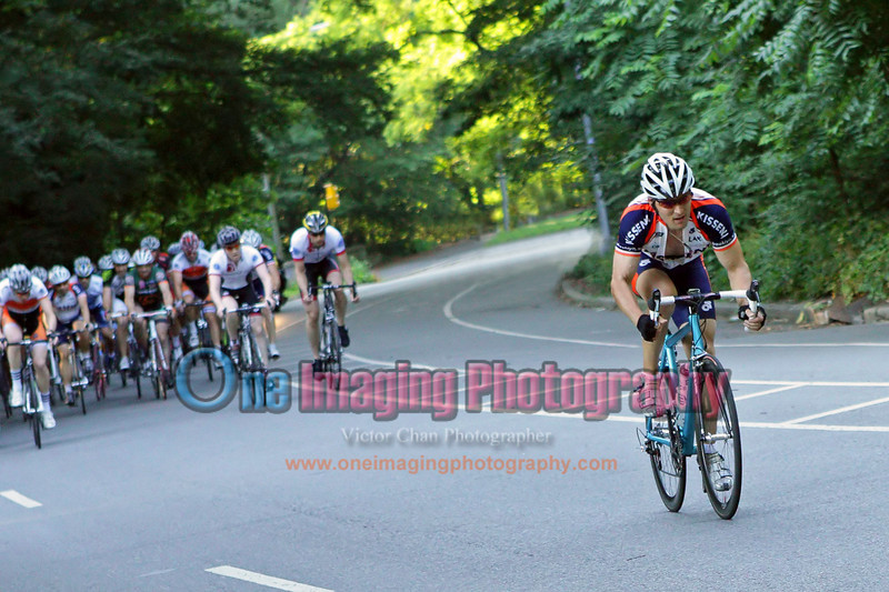 Chris attacking on the climb.  Lap 4.<br />  Al Toefield Memorial Road Race 7/16/11 > Cat 4