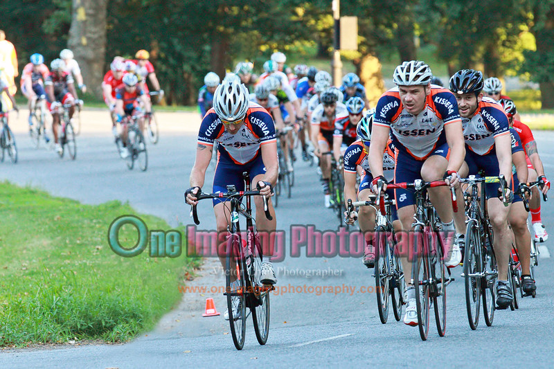 Kissena takes control of the first lap.<br />  Al Toefield Memorial Road Race 7/16/11 > Cat 4
