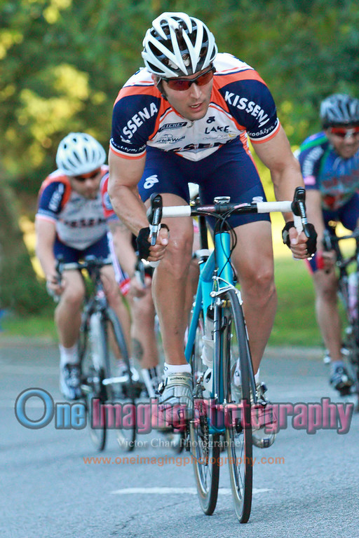 Chris is a busy man today.  Lap 2.<br />  Al Toefield Memorial Road Race 7/16/11 > Cat 4