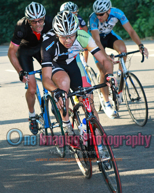 At mid race, couple of riders attack on the climb.