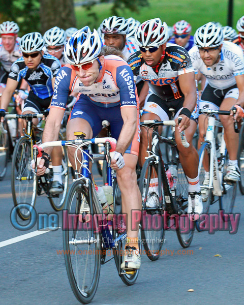 JP from Kissena and Kevin from Major Taylor.  Lap 2.<br />  Lou Maltese Memorial Race 7/17/11 > Invitational Teams