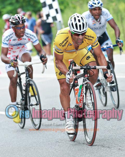 The yellow jersey, John, isn't too far behind.