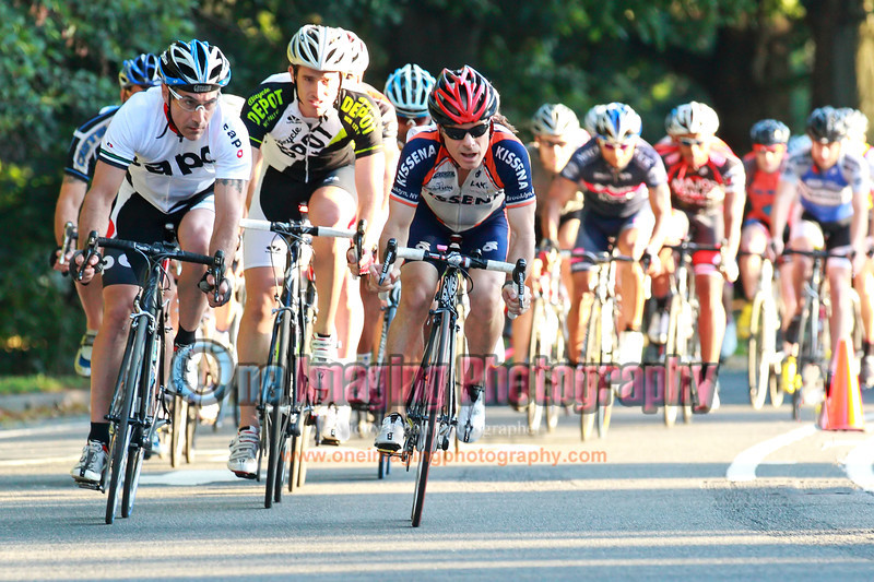 Lap 1, after the fast downhill section.<br />  Mangoseed Restaurant-WS United Race 7/31/11 > Cat 4 and 5