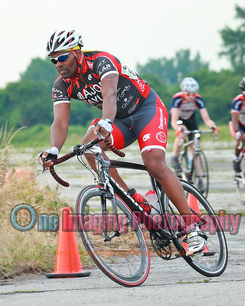 Kenrick off the turn 3.