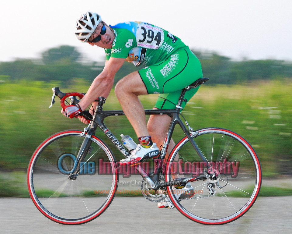John from Kissena on his way to win another prime, with 1 to go.<br />  Tuesday Night Race at FBF 7/20/11 > Cat 3 and 4
